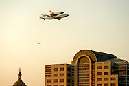 2012-09-20_Endeavor Space Shuttle is flown over the capitol building in downtown Austin on the way to its' final destination in California.