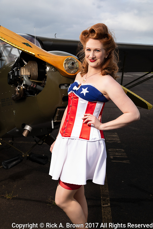 """Pinup """"Lacey Lady"""" with Piper L-4."""