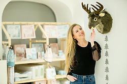 Ex-children star, singer Hajdi Korosec, married Jazbinsek posing in her shop Hajdi.si in Celje. / Nekdanja pevka Hajdi Korošec Jazbinšek, zdaj lastnica otroške trgovine Hajdi.si., on February 1, 2017 in Celje, Slovenia. Photo by Vid Ponikvar / Sportida