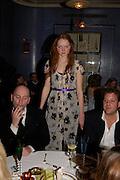 L. to R: ? Lily Cole and Lars von Bennigsen. 'Pret-a-Portea'M.A.C. launches High Tea collection with British fashion designers. Berkeley Hotel. 17 January 2004. ONE TIME USE ONLY - DO NOT ARCHIVE  © Copyright Photograph by Dafydd Jones 66 Stockwell Park Rd. London SW9 0DA Tel 020 7733 0108 www.dafjones.com
