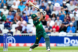 Babar Azam of Pakistan hits over the top - Mandatory by-line: Robbie Stephenson/JMP - 03/06/2019 - CRICKET - Trent Bridge - Nottingham, England - England v Pakistan - ICC Cricket World Cup 2019 Group Stage