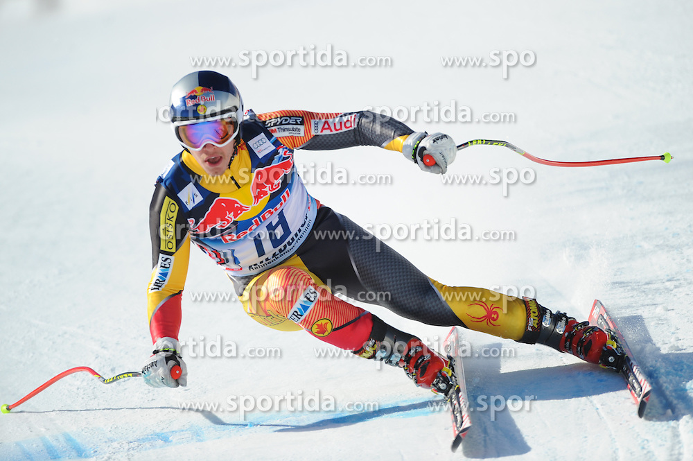 23.01.2013, Streif, Kitzbuehel, AUT, FIS Weltcup Ski Alpin, Abfahrt, Herren, 2. Training, im Bild Erik Guay (CAN) // Erik Guay of Canada in action during 2nd practice of mens Downhill of the FIS Ski Alpine World Cup at the Streif course, Kitzbuehel, Austria on 2013/01/23. EXPA Pictures © 2013, PhotoCredit: EXPA/ Erich Spiess