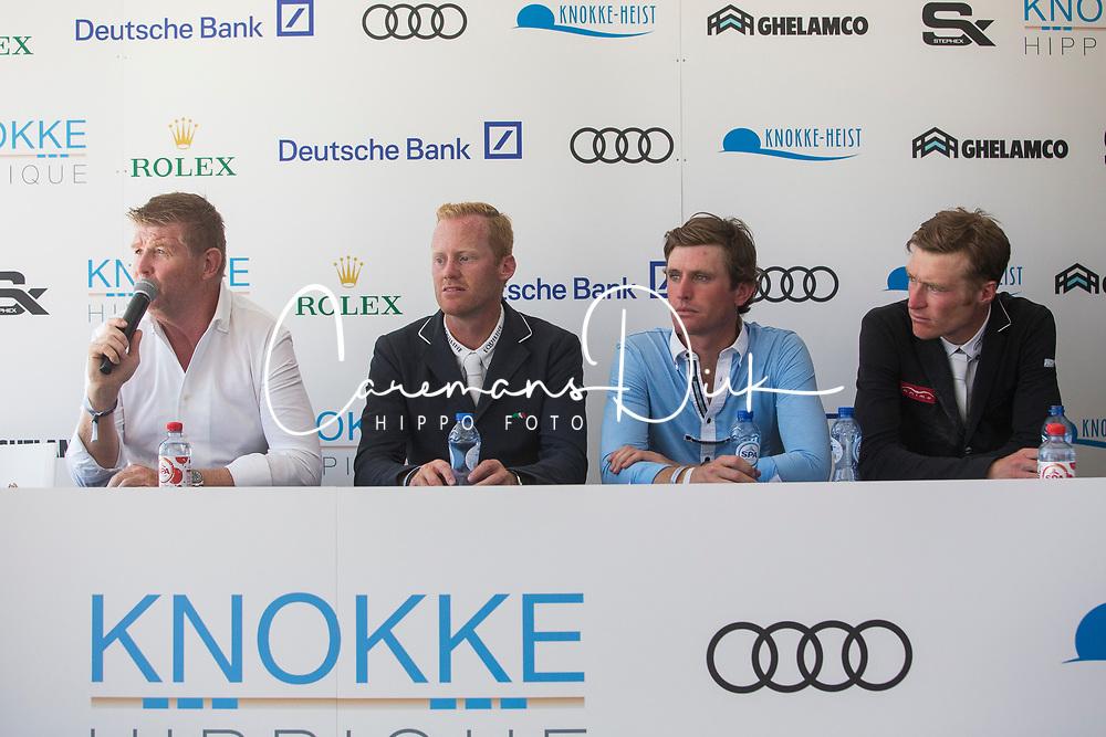 Conter Stephan, Bruynseels Niels, Darragh Kenny, Whitaker William, <br /> Knokke Hippique 2018<br /> © Hippo Foto - Sharon Vandeput<br /> 1/07/18