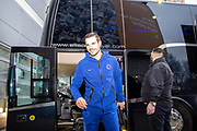 Captain Cesar Azpilicueta (28) of Chelsea FC arriving at the KCOM Stadium before the The FA Cup match between Hull City and Chelsea at the KCOM Stadium, Kingston upon Hull, England on 25 January 2020.