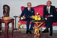 Roma  Settembre 1984.Bettino Craxi  presidente del Consiglio al Quirinale in occasione incontra  Sandro Pertini. Presidente della Repubblica.