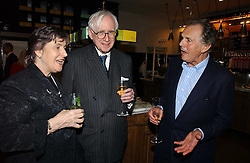 Left to right, LORD & LADY REES-MOGG and LORD HINDLIP at the opening of The National Cafe and an exclusive private view of the National Gallery's Valazquez Exhibition, at The National Gallery, Trafalgar Square, London on 26th October 2006.<br />