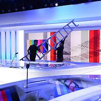 Le nouveau studio de l' info de la RTS en chantier.<br /> Gen&egrave;ve, ao&ucirc;t 2014<br /> &copy; Thierry Parel
