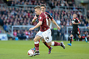 Northampton Town Striker Sam Hoskins during the Sky Bet League 2 match between Northampton Town and Crawley Town at Sixfields Stadium, Northampton, England on 19 April 2016. Photo by Dennis Goodwin.