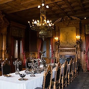 Dining room at Chapultepec Castle. Since construction first started around 1785, Chapultepec Castle has been a Military Academy, Imperial residence, Presidential home, observatory, and is now Mexico's National History Museum (Museo Nacional de Historia). It sits on top of Chapultepec Hill in the heart of Mexico City.