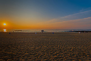 Shortly after sunrise on the Asbury Park Beach