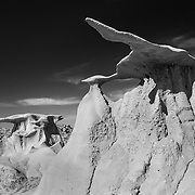 Flying Wings - Bisti Badlands - New Mexico - Black & White