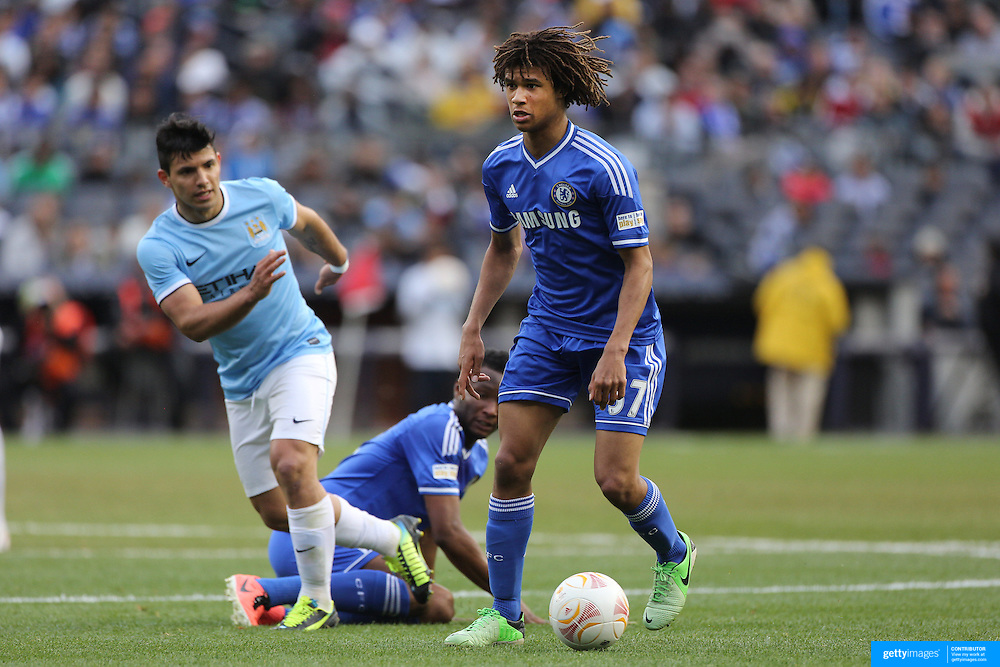 Nathan Ake, Chelsea, in action during the Manchester City V Chelsea friendly exhibition match at Yankee Stadium, The Bronx, New York. Manchester City won the match 5-3. New York. USA. 25th May 2012. Photo Tim Clayton