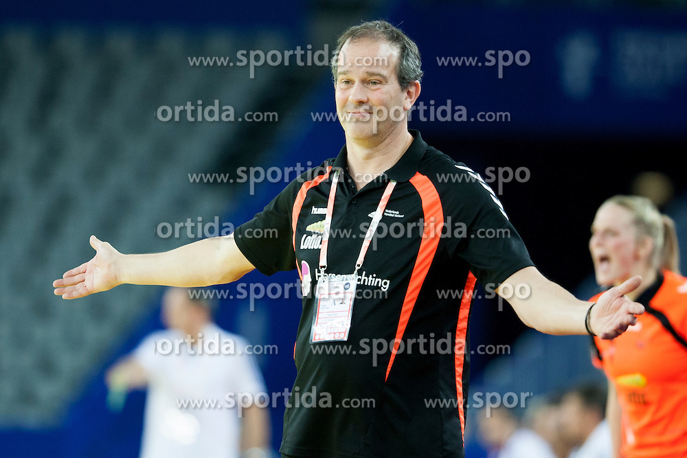Henk Groener, head coach of Netherlands at handball match between Netherlands and France at 11th EHF European Women's Handball Championship Hungary-Croatia 2014, on December 17, 2014 in Arena Zagreb, Zagreb, Croatia. Photo By Urban Urbanc / Sportida