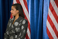 December 1st 2008 - Chicago, IL - Press Conference with newly elected President Barack Obama at the Hilton Hotel in downtown Chicago...Susan Rice, U.S. Ambassador to the United Nations listens as.Obama announces his security team with Vice President-elect Joe Biden.  Hillary Rodham Clinton was introduced as secretary of state, retired Marine Gen. James Jones as White House national security adviser, Eric Holder as attorney general and Arizona Governor, Janet Napolitano as secretary of homeland security, and United Nations Ambassador Susan Rice. Robert Gates will remain as the defense secretary...Photo Credit: Heather A. Lindquist/Sipa..