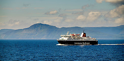 "The Caledonian MacBrayne ferry ""Caledonian Isles"" crossing the Firth of Clyde between Arran and the Scottish mainland.<br /> <br /> (c) Andrew Wilson 