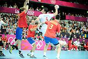 DESCRIZIONE : Handball Jeux Olympiques Londres <br /> GIOCATORE : Duvnajak Domagoj CRO<br /> SQUADRA : Croatie HOMME<br /> EVENTO :  Handball Jeux Olympiques<br /> GARA : Croatie Espagne<br /> DATA : 06 08 2012<br /> CATEGORIA : handball Jeux Olympiques<br /> SPORT : HANDBALL<br /> AUTORE : JF Molliere <br /> Galleria : France JEUX OLYMPIQUES 2012 Action<br /> Fotonotizia : France Handball Homme Jeux Olympiques Londres premier tour Copper Box<br /> Predefinita :
