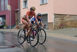 Chantal Blaak takes on the slick descent in Lederhose at Thüringen Rundfarht 2016 - Stage 7 a 131 km road race starting and finishing in Gera, Germany on 21st July 2016.