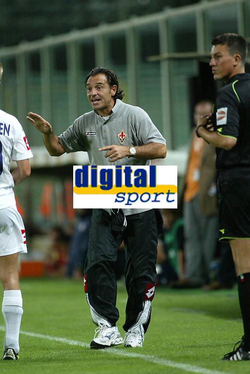 Firenze 07-08-2005<br /> Coppa Italia Tim Cup 2005-2006<br /> Fiorentina Cisco Lodigiani<br /> nella  foto  Cesare Prandelli<br /> Foto Snapshot / Graffiti
