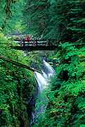 Image of Sol Duc Falls at Olympic National Park, Washington, Pacific Northwest, model released