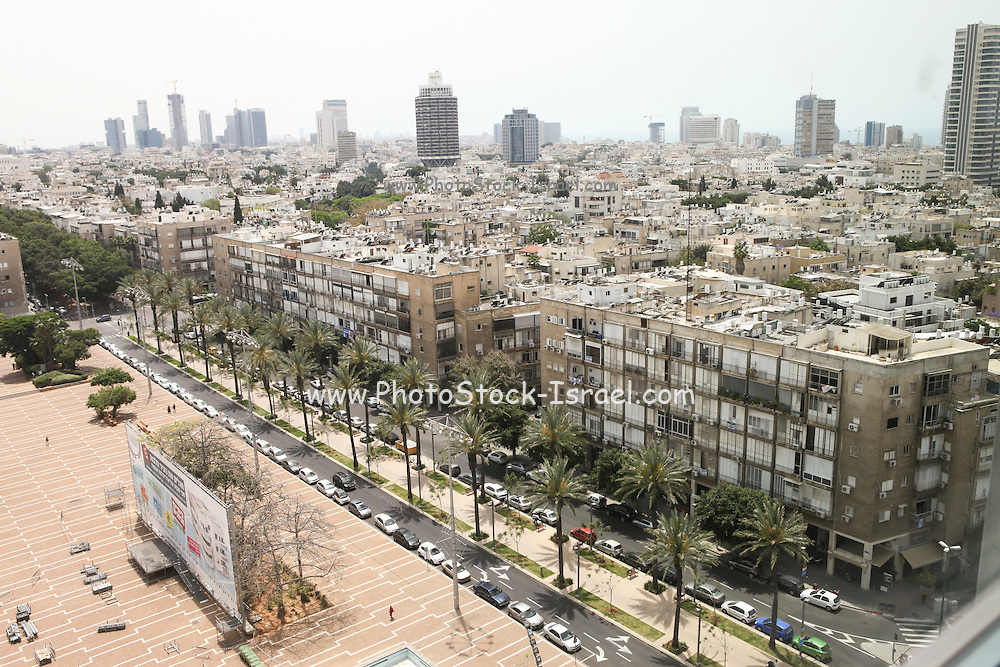 Rabin Square as seen from the roof of city hall, Tel Aviv, Israel