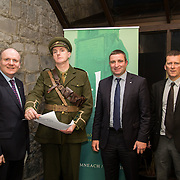 08/12/2015                <br /> Limerick City & County Council launches Ireland 2016 Centenary Programme<br /> <br /> An extensive programme of events across the seven programme strands of the Ireland 2016 Centenary Programme was launched at the Granary Library, Michael Street, Limerick, last night (Monday, 7 December 2015) by Cllr. Liam Galvin, Mayor of the City and County of Limerick.<br /> <br /> Led by Limerick City & County Council and under the guidance of the local 1916 Co-ordinator, the programme is the outcome of consultations with interested local groups, organisations and individuals who were invited to participate in the planning and implementation of events and initiatives during 2016.  <br /> <br /> Pictured at the event were, Damien Brady, 2016 C0-Ordinator, Mike Finn, Deputy Niall Collins, T.D. and Tony Storan, LCCC. Picture: Alan Place