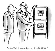 """""""...and this is where I get my terrific ideas."""""""