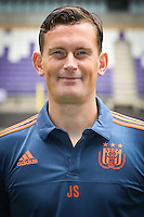 Anderlecht's physical trainer Jurgen Seegers pictured during the 2015-2016 season photo shoot of Belgian first league soccer team RSC Anderlecht, Tuesday 14 July 2015 in Brussels.