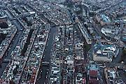 Nederland, Noord-Holland, Amsterdam, 16-01-2014;<br /> Close-up Amsterdam grachtengordel, centrum. Rechtsboven het Rijksmuseum en een stukje Museumplein. Onder in beeld Leidseplein, Hirschgebouw met Apple Center,  de Balie,  Max Euweplein en muziektempel Paradiso.<br /> Close-up Amsterdam: ring of canals, center, Leidseplein, Apple center Hirschgebouw, music temple Paradiso, .<br /> luchtfoto (toeslag op standard tarieven);<br /> aerial photo (additional fee required);<br /> copyright foto/photo Siebe Swart