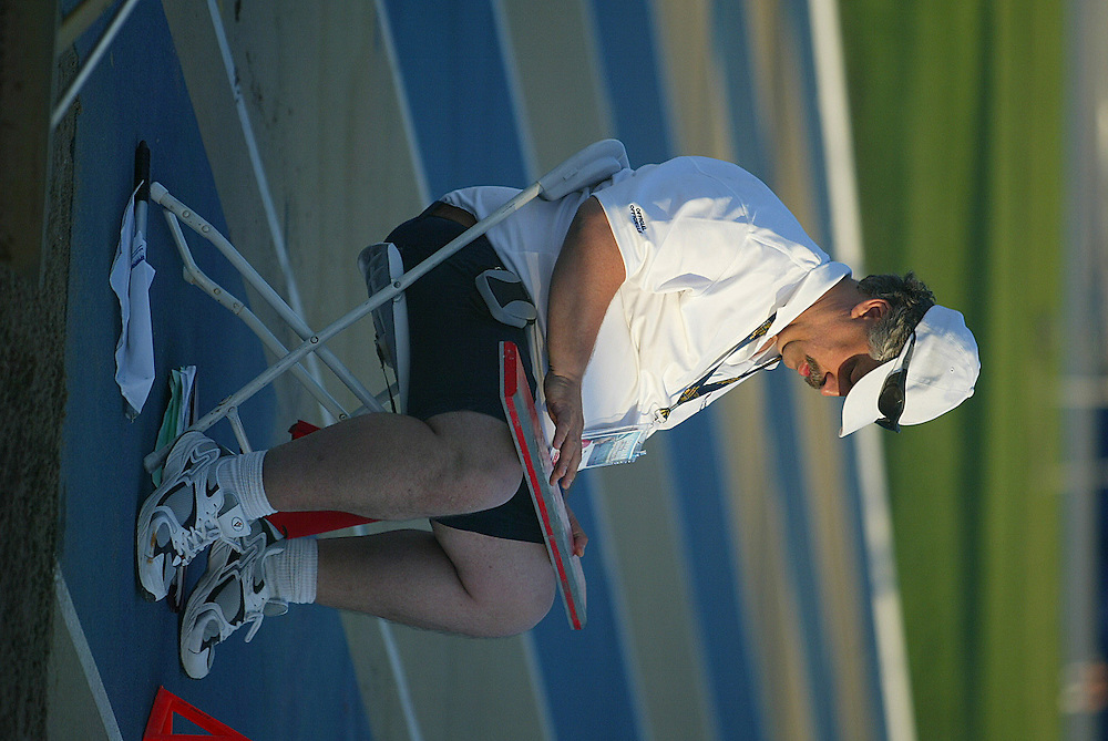 12 July 2007 (Windsor--Canada) -- Officials working at the 2007 Canadian National Track and Field Championships..