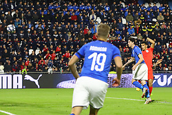ENGLAND GOAL DOMINIC SOLANKE (ENGLAND)     <br /> Football friendly match Italy vs England u21<br /> Ferrara Italy November 15, 2018<br /> Photo by Filippo Rubin