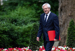 © Licensed to London News Pictures. 05/06/2018. London, UK. Secretary of State for Exiting the European Union David Davis arrives on Downing Street for the Cabinet meeting. Photo credit: Rob Pinney/LNP