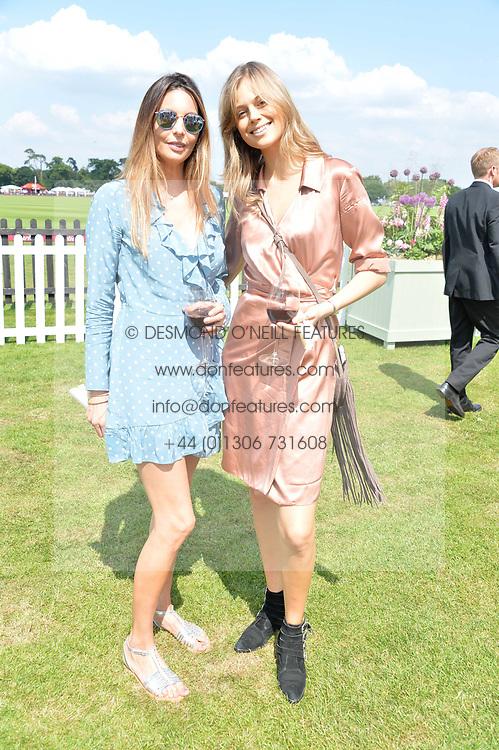Zara Simon and Jessica Clarke at Cartier Queen's Cup Polo, Guard's Polo Club, Berkshire, England. 18 June 2017.<br /> Photo by Dominic O'Neill/SilverHub 0203 174 1069 sales@silverhubmedia.com