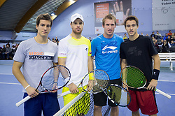 Aljaz Bedene, Blaz Kavcic, Gregor Zemlja and Maks Tekavec at Slovenian Tennis personality of the year 2012 annual awards presented Slovene Tennis Association TZS, on December 22, 2011 in BTC Millennium Arena, Ljubljana, Slovenia. (Photo By Vid Ponikvar / Sportida.com)
