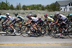 Leah Kirchmann makes it back to the front group before the climb at Amgen Breakaway from Heart Disease Women's Race empowered with SRAM (Tour of California) - Stage 2. A 108km road race in South Lake Tahoe, USA on 12th May 2017.