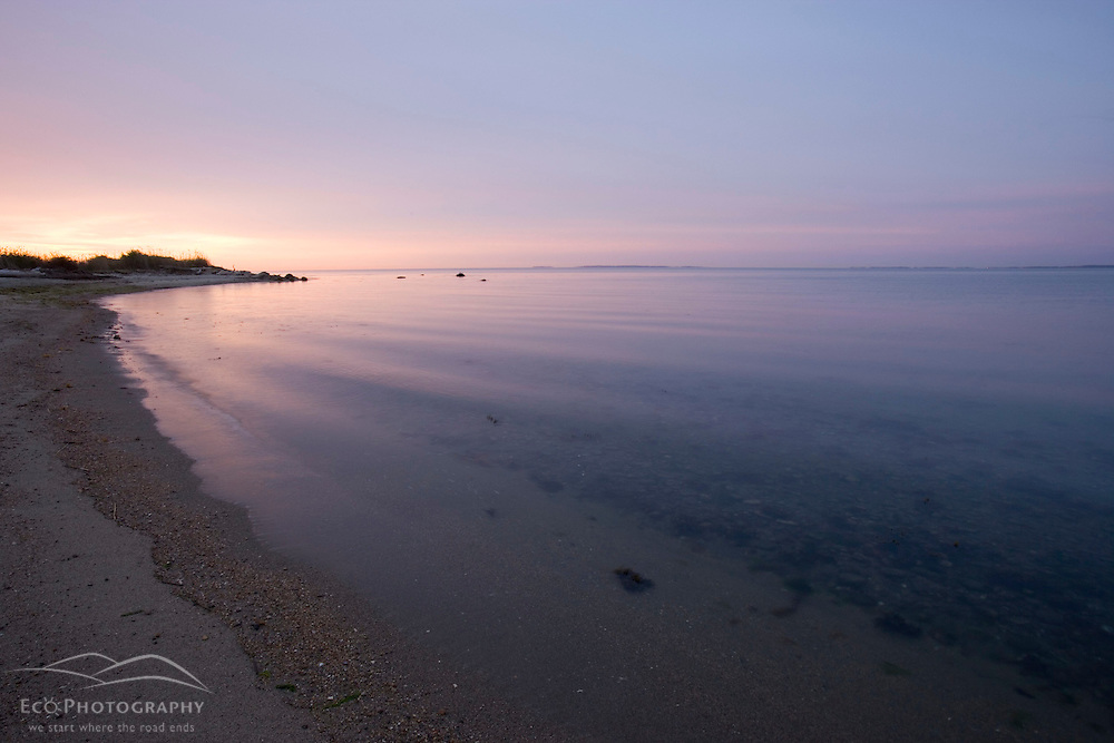 Early morning on the beach at Griswodl Point in Old Lyme, Connecticut.  Nature Conservancy Preserve.