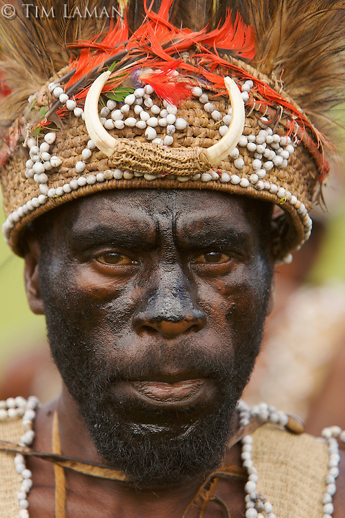 Men from Huon Peninsula area, Morobe Province..Goroka, Eastern Highlands Province, Papua New Guinea.