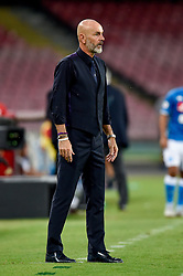 September 15, 2018 - Stefano Pioli manager of ACF Fiorentina during the Serie A match between Napoli and Fiorentina at Stadio San Paolo, Naples, Italy on 15 September 2018. Photo by Giuseppe Maffia. (Credit Image: © AFP7 via ZUMA Wire)