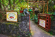 Entrance to the Paleaku Peace Garden, Captain Cook, The Big Island, Hawaii USA