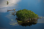 Fisherman in conservancy<br /> West Demerara Conservancy<br /> West of Georgetown<br /> GUYANA<br /> South America