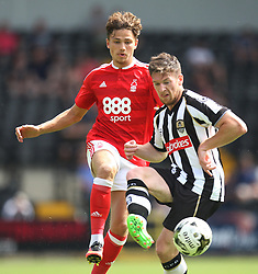 Matty Cash of Nottingham Forest (L) and Matthew Tootle of Notts County in action - Mandatory by-line: Jack Phillips/JMP - 23/07/2016 - FOOTBALL - Meadow Lane Stadium - Nottingham, England - Notts County v Nottingham Forest - Mike Edwards Testimonial Pre-Season Friendly