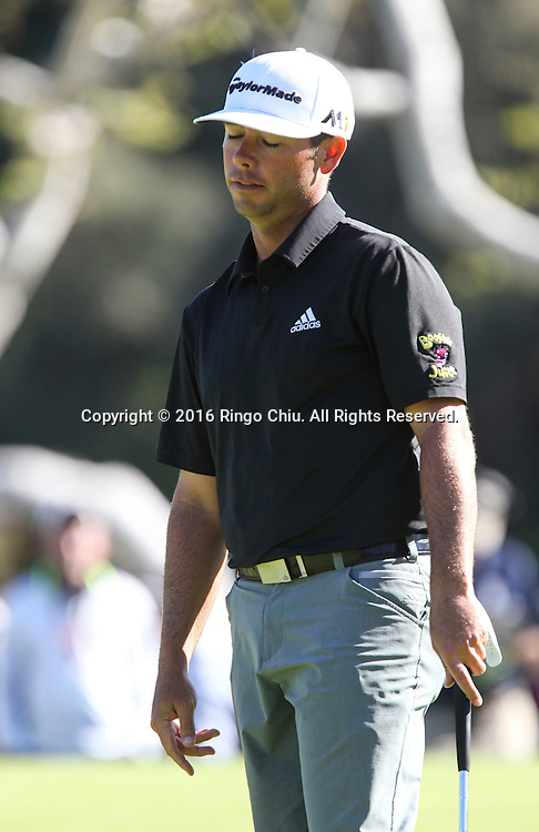 Chez Reavie plays in the Final Round of the Northern Trust Open at the Riviera Country Club on February 21, 2016, in Los Angeles,(Photo by Ringo Chiu/PHOTOFORMULA.com)<br /> <br /> Usage Notes: This content is intended for editorial use only. For other uses, additional clearances may be required.