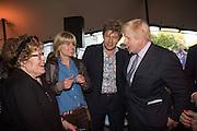 Charlotte Johnson Wahl; Rachel Johnson; Leo Johnson; Boris Johnson, Opening of Photo London,  Somerset House. London. 20 May 2015