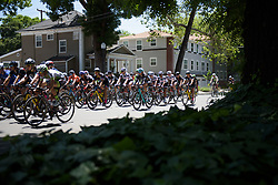 Peloton speed through the streets of Sacramento at Amgen Breakaway from Heart Disease Women's Race empowered with SRAM (Tour of California) - Stage 4. A 20 lap criterium in Sacramento, USA on 14th May 2017.