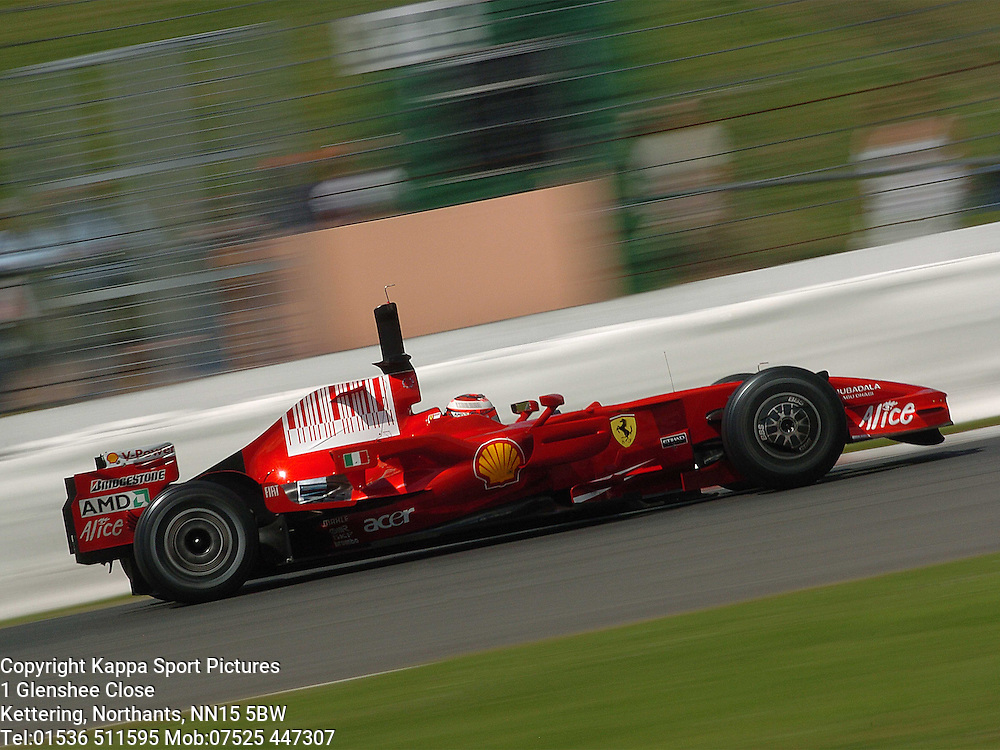KIMI RAIKKONEN F1 Ferrari, Formula One Test Silverstone 19th June 2007 :Photo Mike Capps