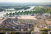 Nederland, Limburg, Roermond, 27-05-2013;<br /> Stadsweide met de Outlet Center Roermond<br /> Shopping mall, factory outlet.<br /> luchtfoto (toeslag op standard tarieven)<br /> aerial photo (additional fee required)<br /> copyright foto/photo Siebe Swart