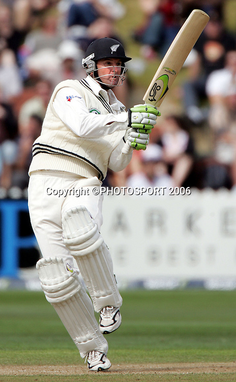 Natan Astle hooks on day 2 of the 2nd cricket test between New Zealand and West Indies at the Basin Reserve, Wellington, on Saturday 18 March, 2006. Photo: Andrew Cornaga/PHOTOSPORT<br /><br /><br />150811