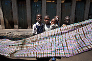 "A tie-dye product in Kawangware slum in Nairobi, Kenya, on Tuesday, Jan. 13, 2009. MAX&Co. visited the local tie-dye shop to find ideas for their winter collection which will follow on from the current spring collection that is now being shipped. The tie-dye is one example of using local design and expertise in designing ""ethical fashion"" for foreign markets."