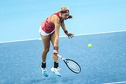February 7, 2019 - Zielona Gora, Poland - Johanna Larsson (SWE) during Tennis 2019 Fed Cup by Paribas Europe/Africa Zone Group 1  match between Sweden and Estonia in Zielona Gora, Poland, on February 7, 2019. (Credit Image: © Foto Olimpik/NurPhoto via ZUMA Press)