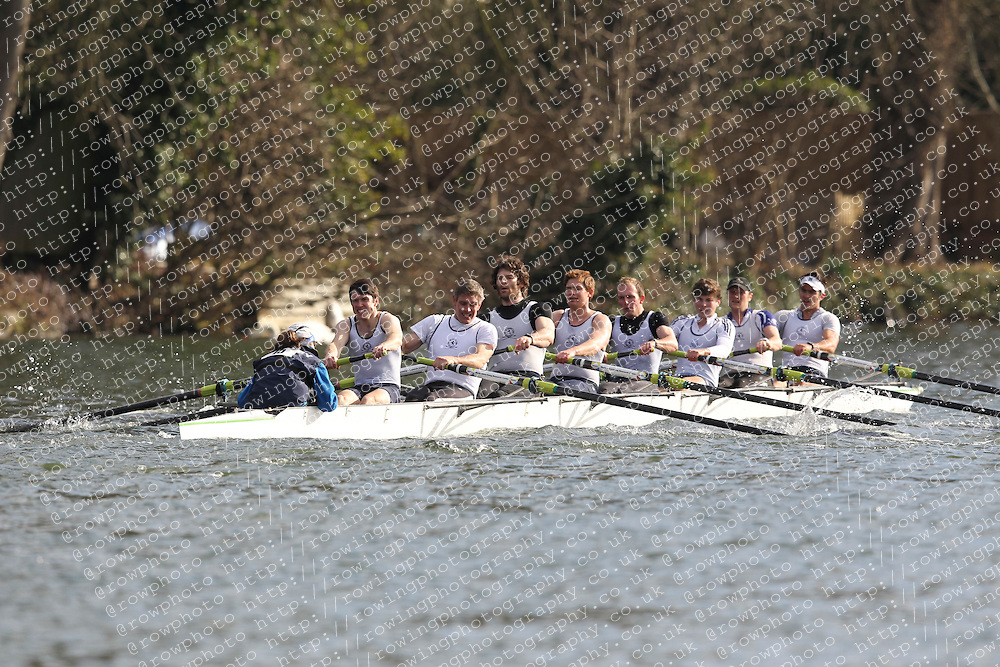 2012.02.25 Reading University Head 2012. The River Thames. Division 1. Henley Rowing Club IM1 8+.