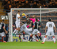 Dundee keeper Scott Bain saves from Partick Thistle&rsquo;s Adebayo Azeez - Dundee v Partick Thistle in the Ladbrokes Scottish Premiership at Dens Park, Dundee. Photo: David Young<br /> <br />  - &copy; David Young - www.davidyoungphoto.co.uk - email: davidyoungphoto@gmail.com